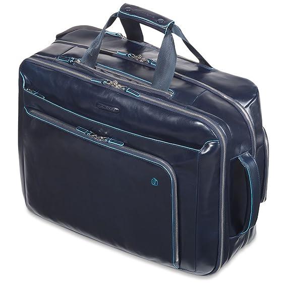 Piquadro Mallette ordinateur à roulettes, 51 cm, 38 L, Bleu