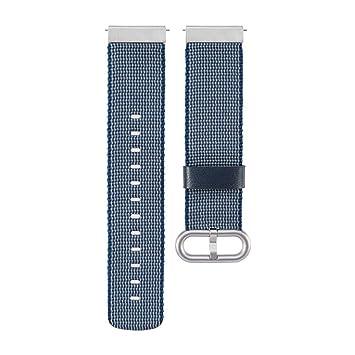 Zolimx Moda Nylon Relojes Fitness Smartband Inteligente Banda Correa con Hebilla Conector Accesorios para Xiaomi Huami Amazfit Smartwatch