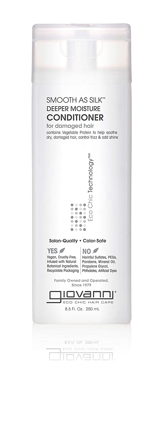 Giovanni Smooth as Silk Conditioner - Deep Moisturizing and Frizz Calming Formula 8.5 oz