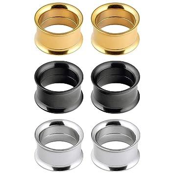 Longbeauty - 3 pares de pendientes de acero inoxidable para ...