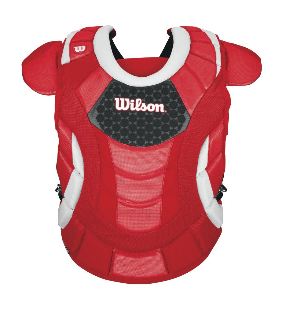 Wilson Promotion Fast Pitch Chest Protector with Isoblox, Scarlet, Adult