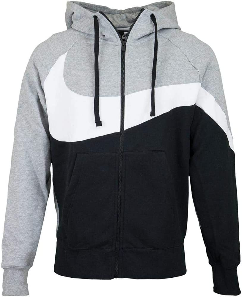 Nike M NSW HBR Hoodie FZ BB STMT Sweat Shirt Homme, DK Grey