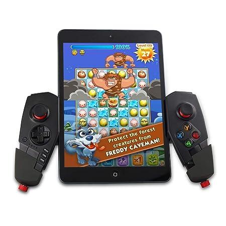 DZYXSB Drahtlose Bluetooth Game Controller Joystick mit Stretch Halterung für iOS Android TV Box