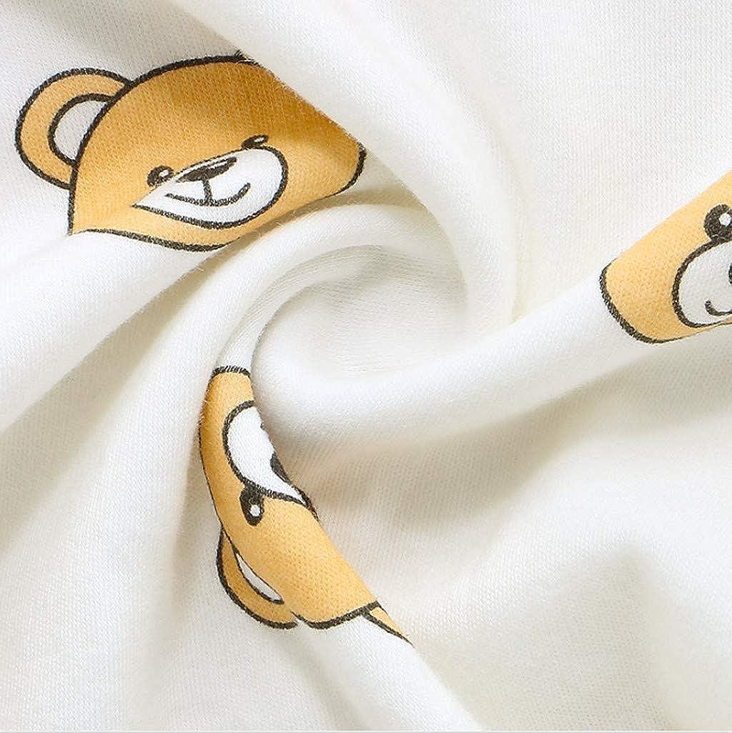 Patifia Warme Unisex Baby Jumpsuit Strampler Niedlich Karikatur Druck Neugeborene Schlafanzug Kleidung M/ädchen Jungen 0-18 Monate Nachtw/äsche S/äugling Kost/üm Spielanzug Overall