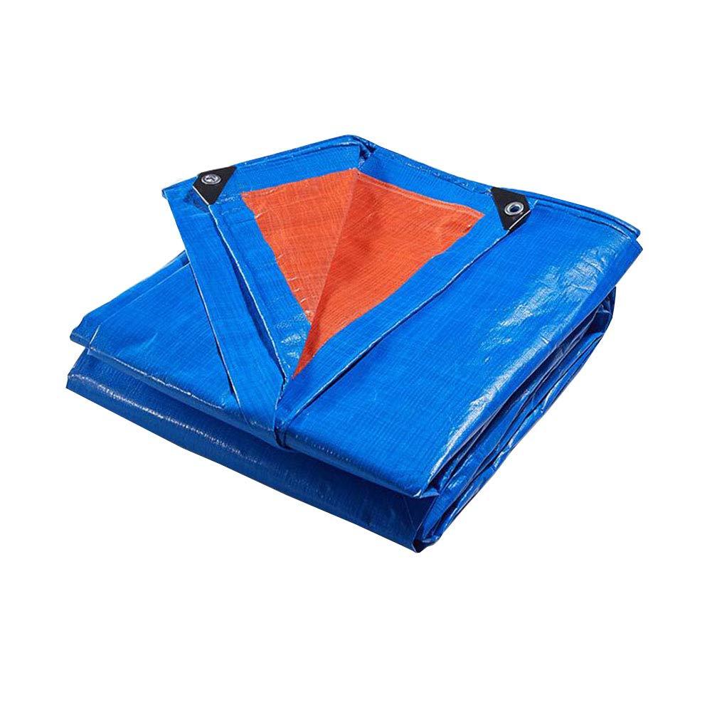 Zeltplanen CJC Plane Hoch Dichte Gewebte Polyethylen Doppelt Laminiert 180g/m² Blau 100% Wasserdicht UV Geschützt (größe : 4x10m)