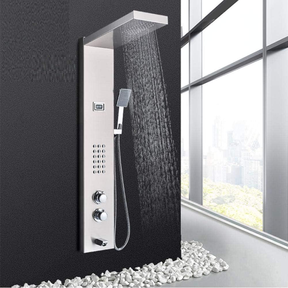 Panel de ducha termostático Torre de baño de acero inoxidable ...