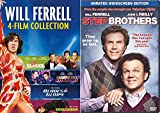 Will Ferrell Collection Comedy Set 5 Movie Favorites / Old School / Step Brothers / Blades of Glory / Zoolander / Night at the Roxbury