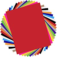 """HTVRONT Heat Transfer Vinyl Bundle - 18 Pack 12""""x10"""" Iron On Vinyl Sheets for T-Shirts with 1 Teflon Sheet - 13 Assorted…"""