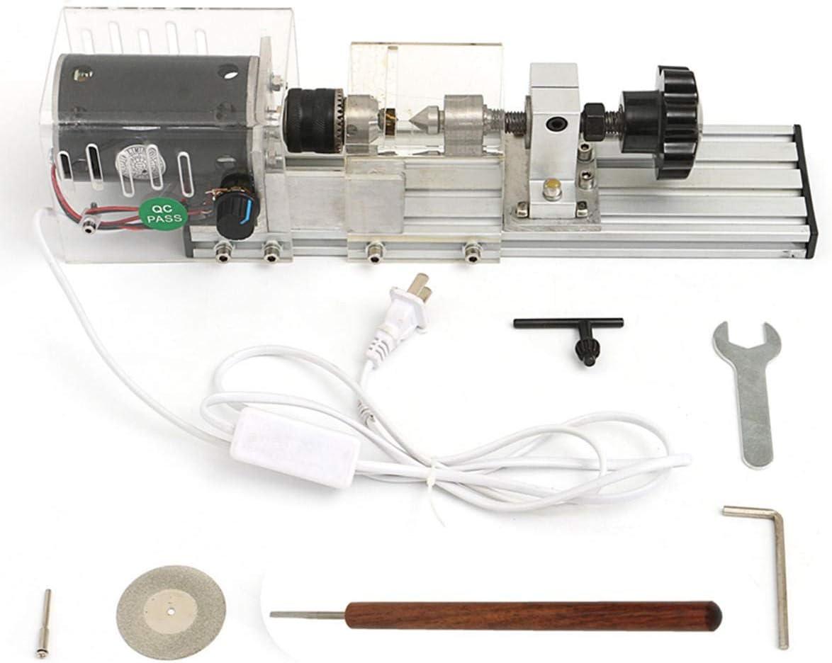 Ckingys de arena Juego de torno de bricolaje for máquina de torno mini 350W con adaptador de corriente tornos de madera