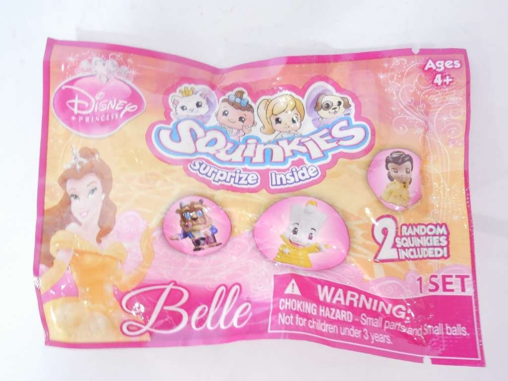 Amazon.com: Squinkies Disney Princess Foil 2-Pack - Beauty and the ...