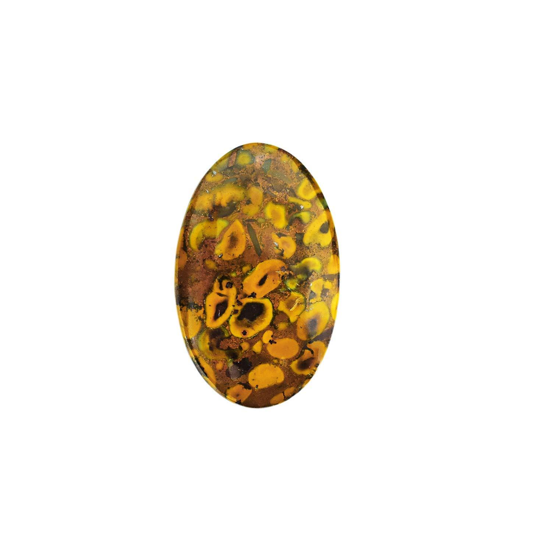 Natural Fruit Jasper Gemstone 13mm-19mm Faceted Rosecut Cabochon Lot ~ Fruit Jasper Semi Precious Gemstone Loose Flat Back Cabs For Jewelry