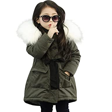 a52a576238d6 Amazon.com  Kehen Kids Girl Winter Hooded Trench Coat Down Jacket ...
