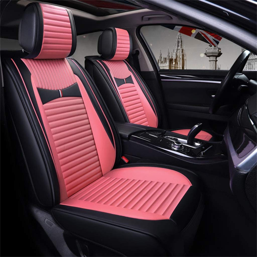 Car Seat Cushion Four Seasons Universal 5 Seats Universal Comfortable Car Interior Products Pink