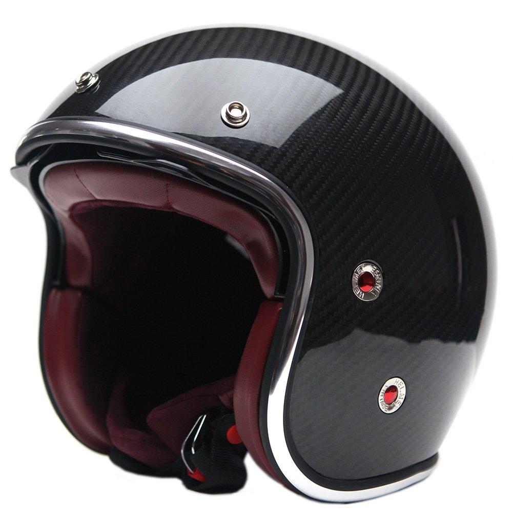 Carbon Fiber Motorcycle Helmets >> Amazon Com Yema Helmet Unisex Adult Motorcycle Open Face Carbon