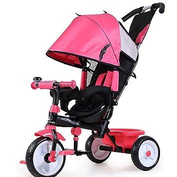 ZXUE Bicicleta Triciclo para Niños con Cubo Cochecito para Bebés 1-5 Años Bicicleta para Niños Carrito de bebé (Color : Pink): Amazon.es: Hogar