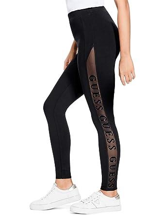 d303462b676b0e GUESS Factory Women's Nadia Mesh-Logo Leggings at Amazon Women's ...