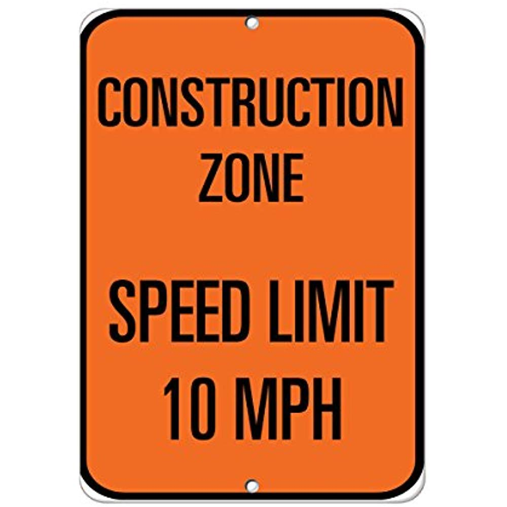 Image result for construction 25 mph sign""