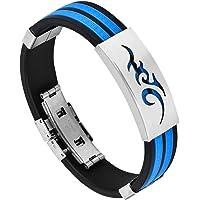 sorellaz Blue Alloy Chain Bracelet for Men