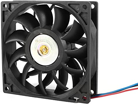 Negro 3 pines de refrigeración del ventilador de 92 mm DC 48V para ...