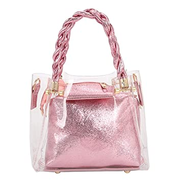 32211a03c03a Midress Bags Fashion Lady Transparent Jelly Wild Woven Portable ...