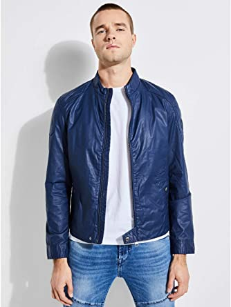 87919efb1b3b Guess Bomber Uomo M82L11-WA1P0 Primavera Estate  Amazon.fr ...