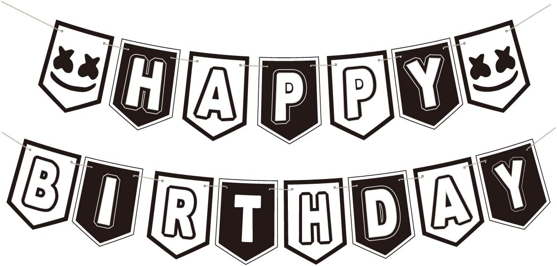 DJ Mask Birthday Banner for Marshmallow