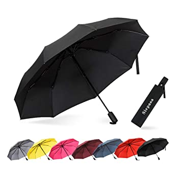 d4776399409d Siepasa Windproof Waterproof Lightweight Umbrellas, Compact Travel Auto  Open Close Umbrellas for Women & Men