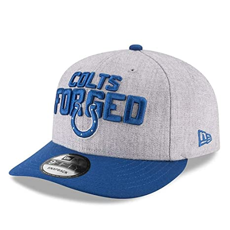 hot sale online 116d7 993c9 Amazon.com  New Era Authentic Indianapolis Colts Heather Gray Blue 2018 NFL  Draft Official On-Stage 9FIFTY Snapback Adjustable Hat  Sports   Outdoors