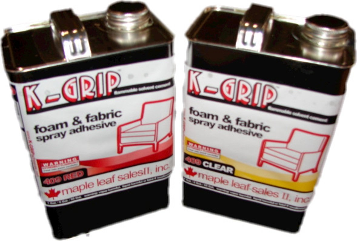 K-Grip 409 Foam & Fabric Adhesive 1 Gallon Size (Red) by K-Grip
