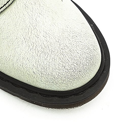 Dr. Martens Kvinna Pascal Läder Bekämpa Boot Vit / Svart