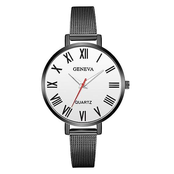 Bestow Relojes de Pulsera de Cuarzo de la Venda del Acero Inoxidable de la Manera de