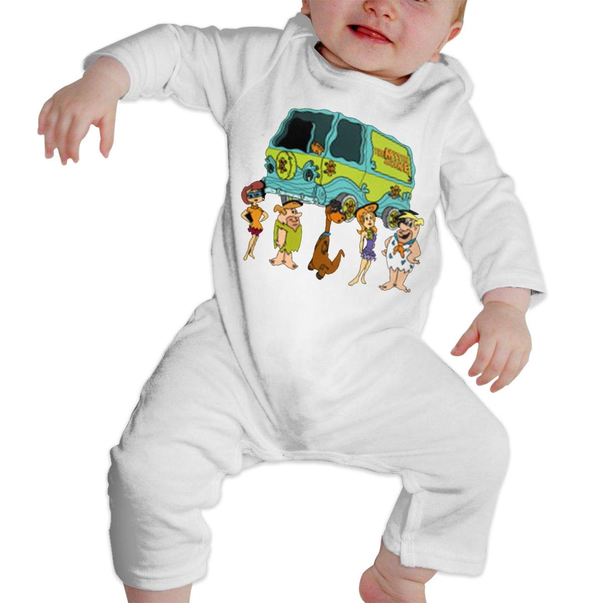 SININIDR Newborn Jumpsuit Infant Baby Girls Stone Age Mystery Inc Long-Sleeve Bodysuit Playsuit Outfits Clothes Black