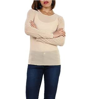 Miss Rouge  T-Shirt,résille,Haut en Voile Transparente,Taille Unique 4bc46af44b4e