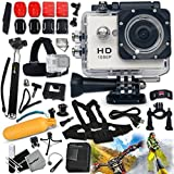 KoolCam AC200 HD 1080p ACTION Camera / Camcorder + COMPLETE Accessory Kit Includes: KoolCam AC200 HD 1080p Waterproof Action Camera / Camcorder with a Super 140 degree Wide angle Lens + Handheld Extendable MONOPOD Pole + Hermetically Sealed Floating Bobber + Adjustable Bike Mount + Long Life Battery + USB Charging Cable + Adjustable Tripod Mount + 2 Adhesive Flat Stickers / Flat Surface Mounts + 2 Adhesive Curved Stickers / Curved Surface Mounts + Assorted Camera Mounts / Clips + Lens Cap Keeper + Memory Card Wallet Holder + Mini Table Tripod + Lens Cap Keeper + 2 Screen Protectors + Deluxe Cleaning Kit + Ultra Fine HeroFiber Cleaning Cloth