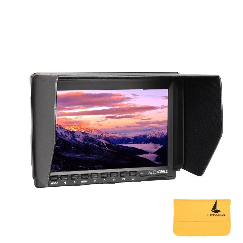 Feelworld FW759 一眼レフカメラ/ビデオカメラ用液晶モニター/7インチ HD IPS 1280×800 HDMI 液晶モニタ Canon Nilkon Sony デジタル一眼レフカメラ用 B0788TFT5X