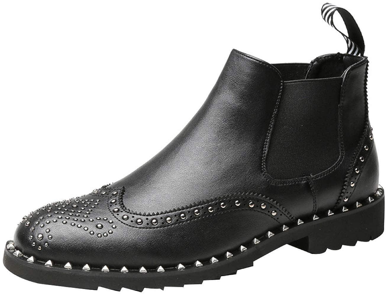 Herren Brock Carved Lässige Chelsea-Stiefel Fashion Studded Martin Stiefel