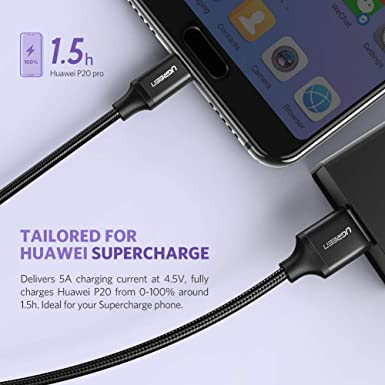 Amazon.com: UGREEN USB C Cable 5A Supercharge Type C to USB ...
