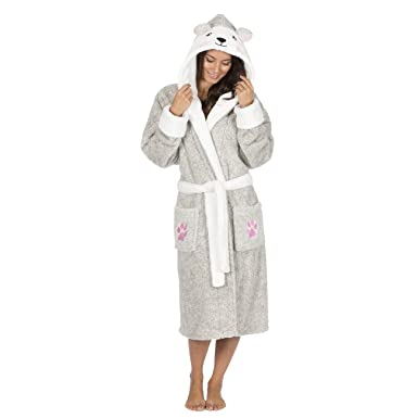 Forever Dreaming Ladies Luxury Snuggle Hooded Dressing Gown at ...