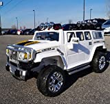 ride on toys hummer - Electric Battery operated Ride On Car For Kids HUMMER Style (Model HJJ255-A) Remote Control / White