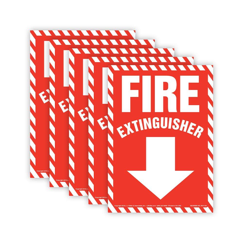 Amazon.com: Señal de Extintor de Fuego – Flecha abajo, 7X10 ...