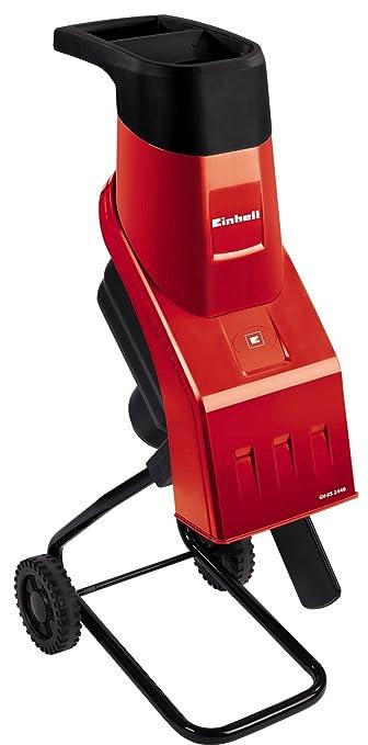 Einhell GH-KS 2440 - Trituradora eléctrica de cuchillas, con obturador, bolsa colectora, 4500 rpm, 2000 W, 230 - 240 V, color rojo y negro (ref. ...