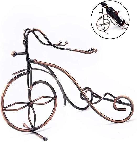 DiseñO De La Bicicleta Retro Soporte Para Vino Estante De Hierro ...