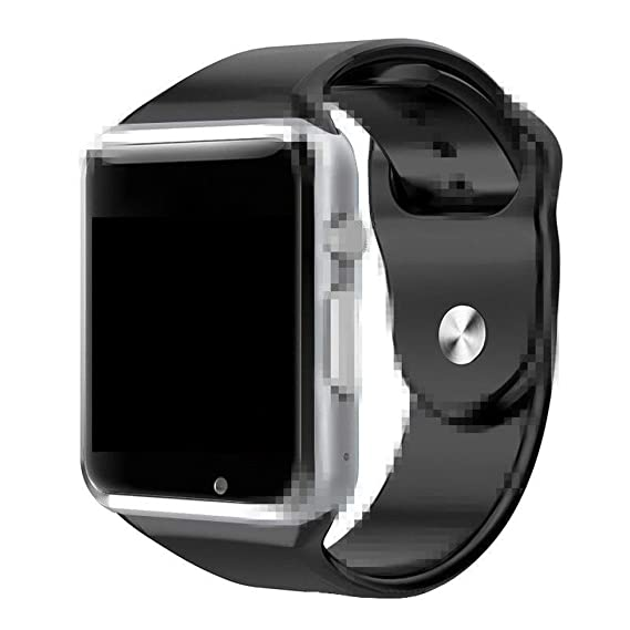 A1 Smart Watch With Passometer Camera SIM Card Call Smartwatch For Xiaomi Huawei Android Phone Better Than GT08 DZ09 (Black)