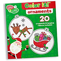 C.R. Gibson Gibby & Libby Color It! DIY Christmas Ornaments Kit