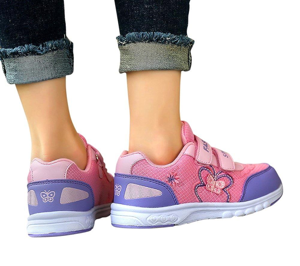Tortor 1Bacha Princess Girls Butterfly Mesh Sport Running Shoes Sneaker