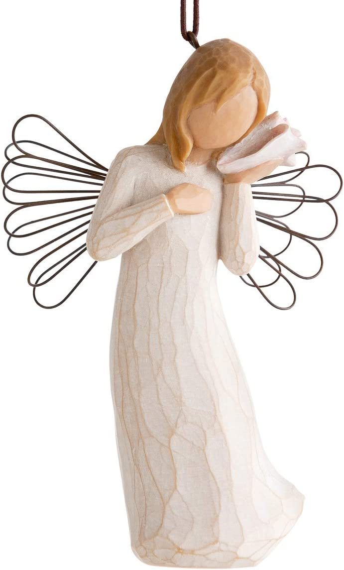 Willow Tree Thinking of You Ornament, Sculpted Hand-Painted Figure
