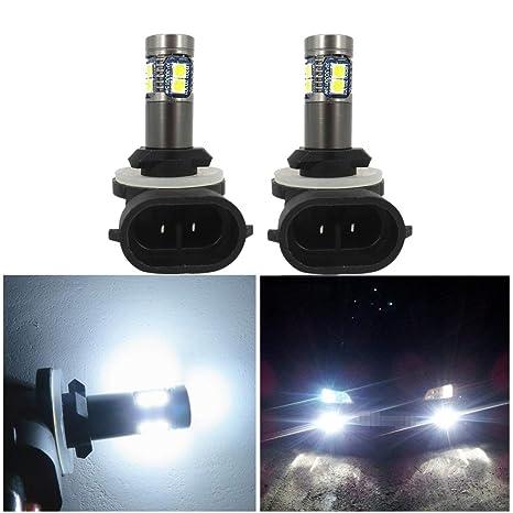 WLJH 2 Pack 881 Bombilla de luz antiniebla LED 886 889 894 12V 24V 3030 Error