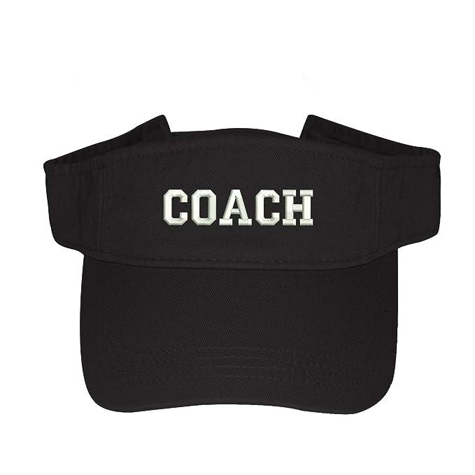 a2de861f53c Coach Visor Hat - Embroidered Unisex Visor - Summer Sun Visor (Black ...