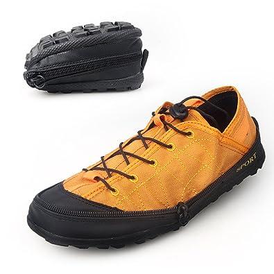ワークシューズ メンズ アウトドアシューズ ファスナー付き折りたたみ式 運動スポーツシューズ 作業靴 (38