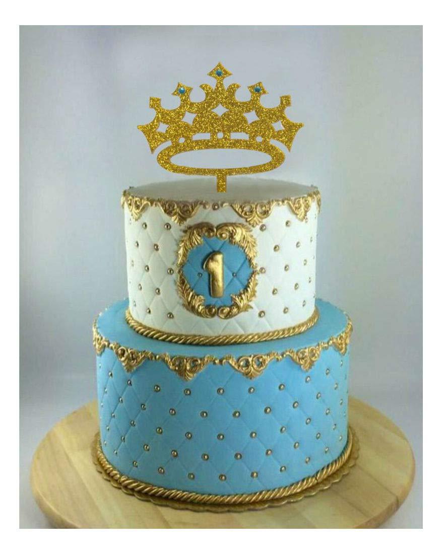 Decoración para tarta Prince Crown, niño cumpleaños, primer ...